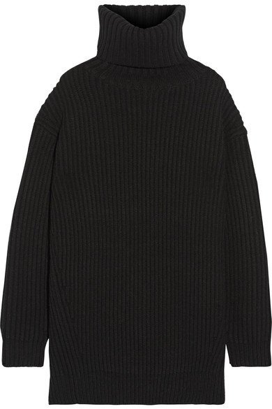 ACNE STUDIOS Disa oversized ribbed wool turtleneck sweater 1 - edited