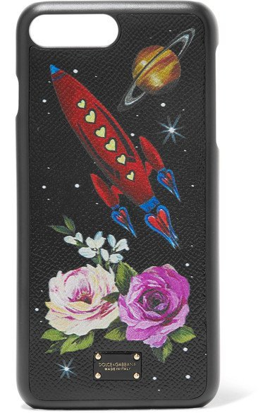 DOLCE & GABBANA rocket Printed textured-leather iPhone 7 Plus case