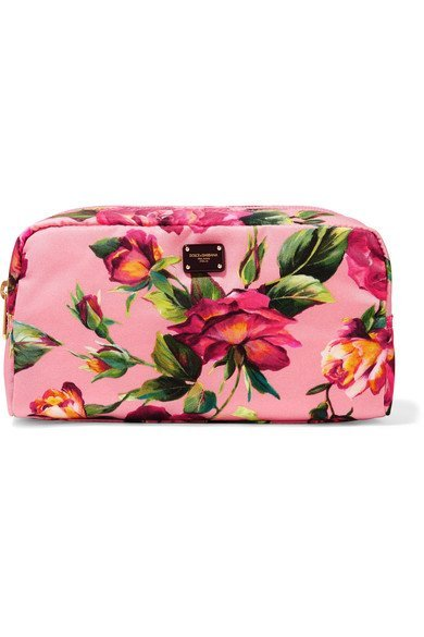 DOLCE & GABBANA floral Printed shell cosmetics case