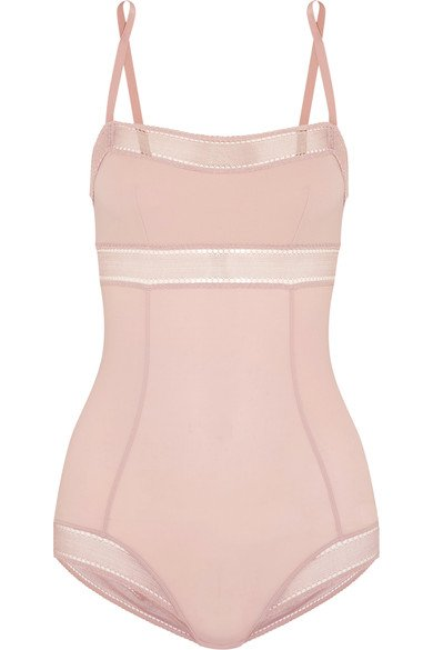 ERES pretty Exquis lace-trimmed pink stretch-jersey bodysuit