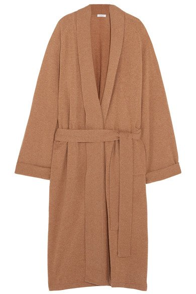 ERES Frileuse Loving tan wool and cashmere-blend robe