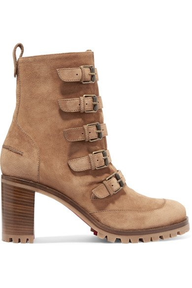 new arrival 86e4b 97e51 CHRISTIAN LOUBOUTIN Who Walks buckled Tan suede ankle boots