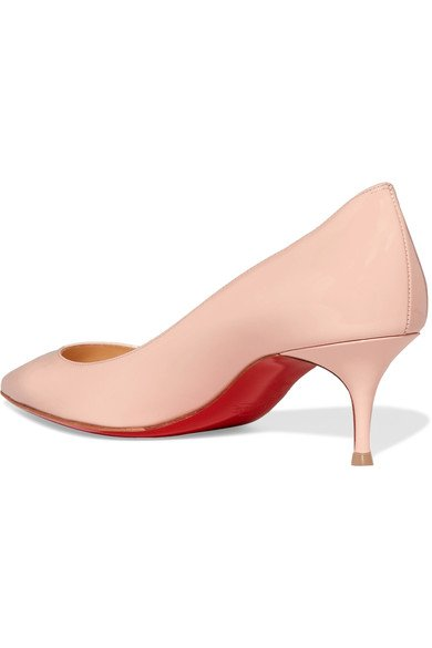 huge selection of c0718 6cd52 CHRISTIAN LOUBOUTIN Pigalle Follies 55 Pastel-Pink patent-leather pumps -  Humble & Rich Boutique