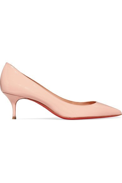 huge discount 73660 84b90 CHRISTIAN LOUBOUTIN Pigalle Follies 55 Pastel-Pink patent-leather pumps