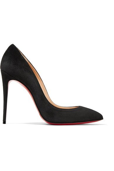 buy popular 07ee2 78cd2 CHRISTIAN LOUBOUTIN Pigalle Follies 100 black suede pumps