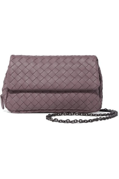 05eee4194ba BOTTEGA VENETA beautiful Messenger mini mauve intrecciato leather shoulder  bag