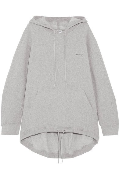 BALENCIAGA oversized Cocoon cotton-blend jersey hooded top