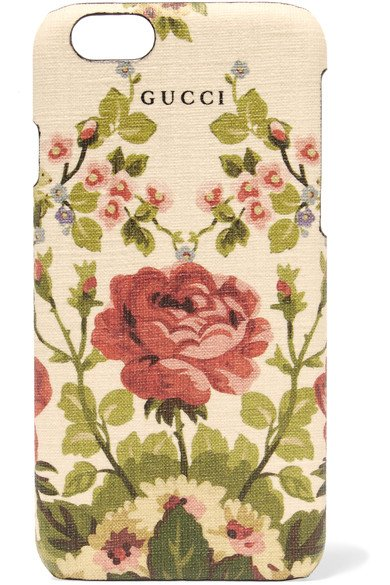 GUCCI lovely Adonis floral-print textured iPhone 6 case
