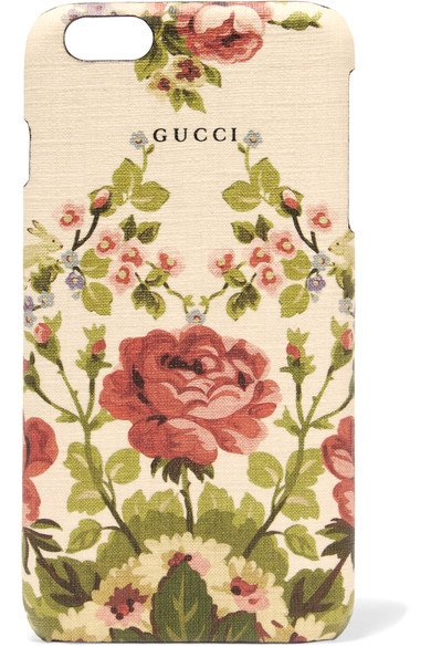 GUCCI beautiful Adonis floral-print textured iPhone 6 Plus case