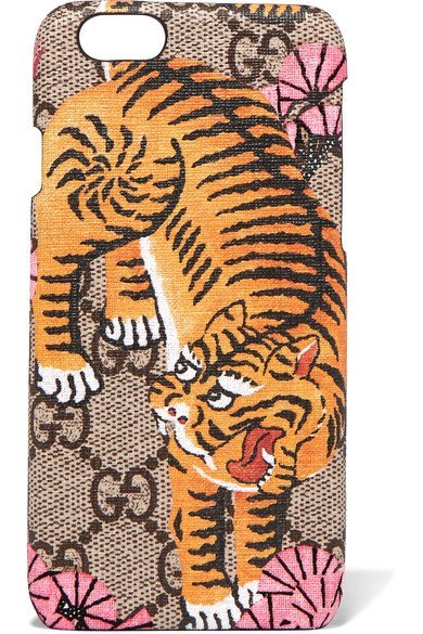 GUCCI attractive Printed coated-canvas iPhone 6 case