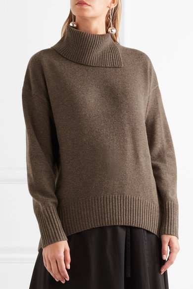 Joseph Oversized Brown Wool Turtleneck Sweater Humble Rich Boutique
