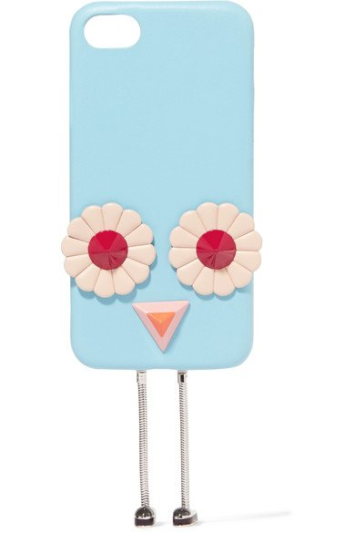 FENDI Fancy Blossom appliqued leather iPhone 7 case