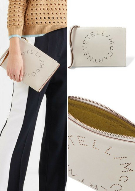 STELLA MCCARTNEY Perforated faux leather pouch