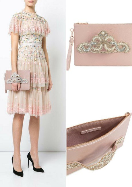 SOPHIA WEBSTER embellished hand strap clutch