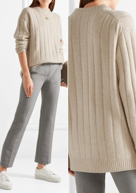 The Row Lilla Lovely Ribbed Cashmere Sweater