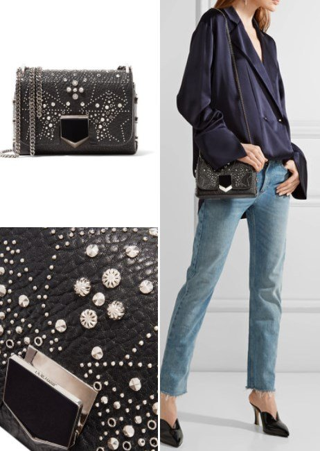 JIMMY CHOO STUDDED TEXTURED LEATHER