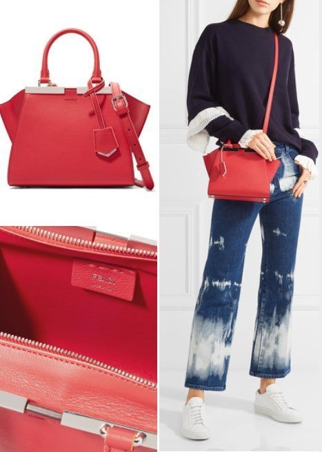 FENDI 3JOURS SMALL RED LEATHER
