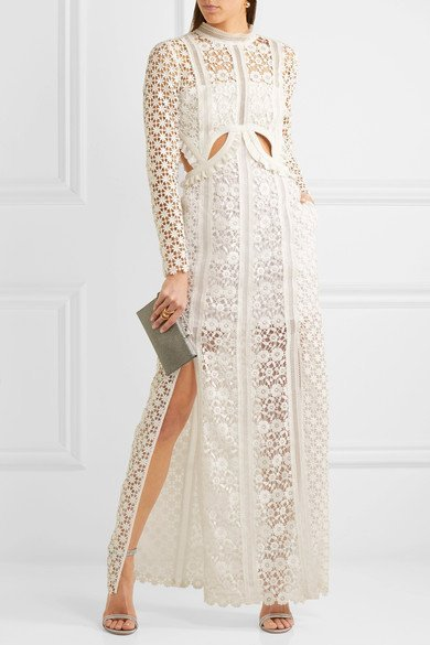 SELF-PORTRAIT-gorgeous-white-Ruffled-cutout-guipure-lace-gown-1