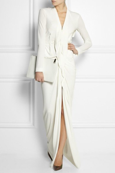 ROLAND-MOURET-Compeyson-ruffled-stretch-crepe-gown