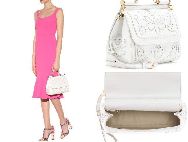 DOLCE & GABBANA MISS SICILY EMBROIDERED LEATHER TOTE