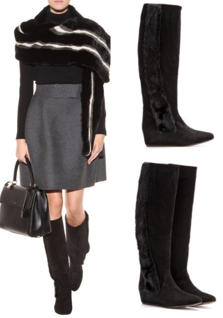 LANVIN CONCEALED WEDGE BOOTS