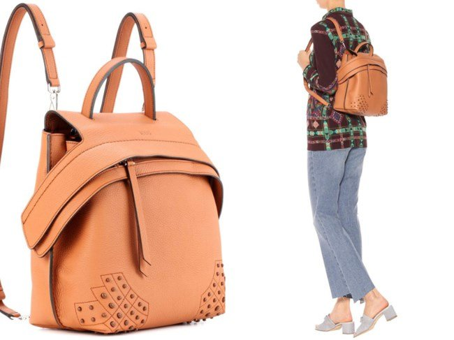 TOD'S WAVE LEATHER BACKPACK