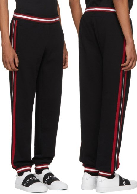 Givenchy Black Contrast Band Lounge Pants