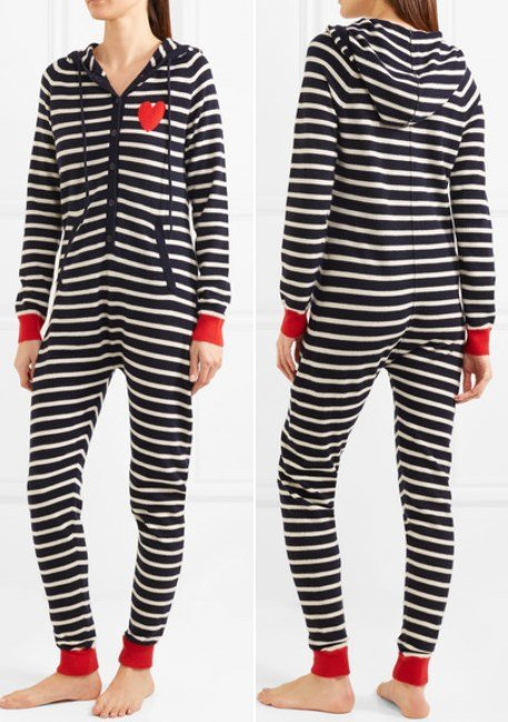 CHINTI AND PARKER Striped cashmere onesie