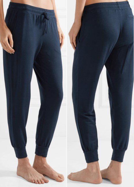 SKIN Freya modal-blend and French terry track pants