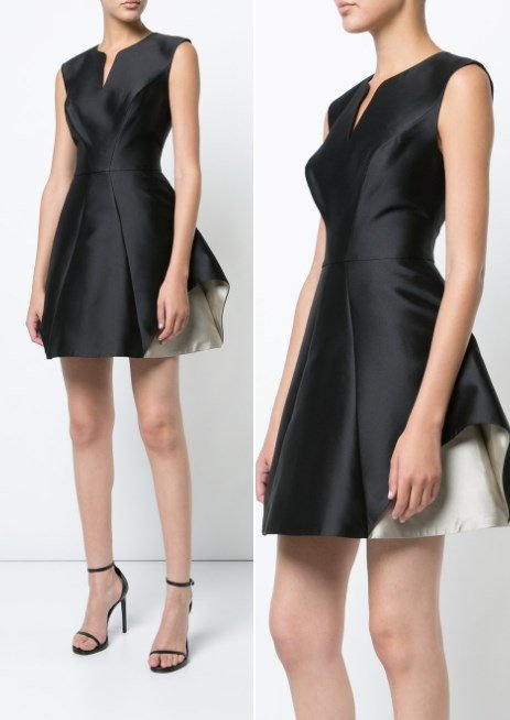 HALSTON HERITAGE flared dress