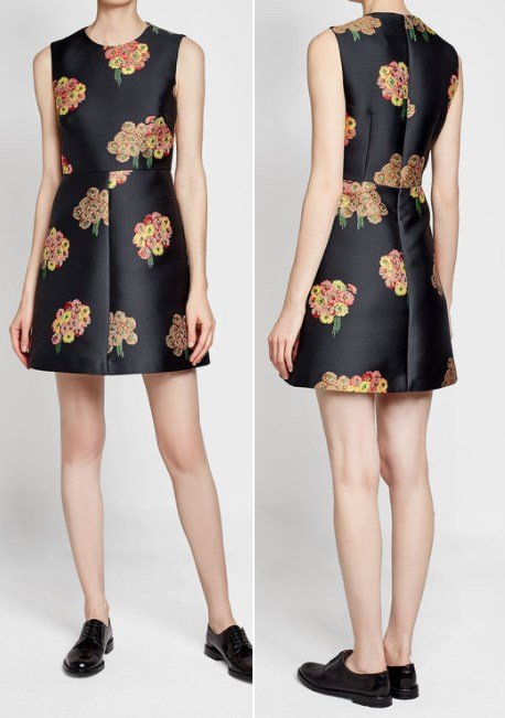 RED VALENTINO Bouquet Print Mini Dress