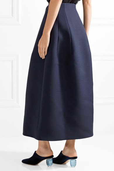 THE ROW Batley wool and silk-blend midi skirt 4