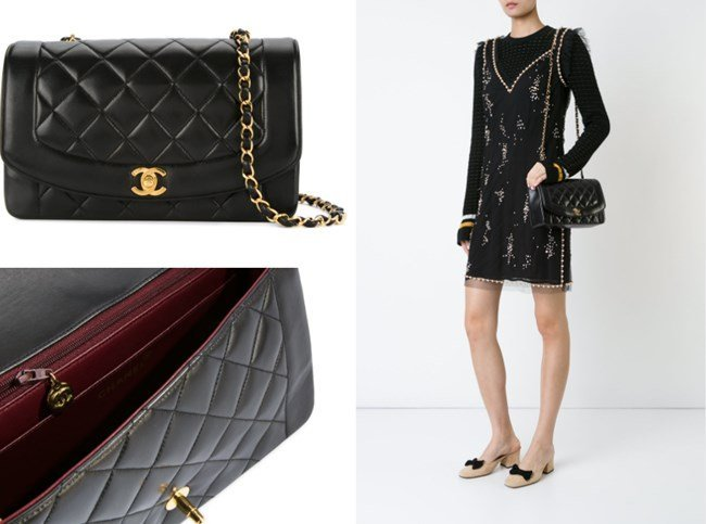 CHANEL QUILTED CHAIN STRAP BAG