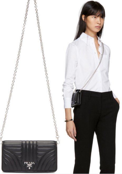 PRADA QUILTED WALLET CHAIN BAG 2