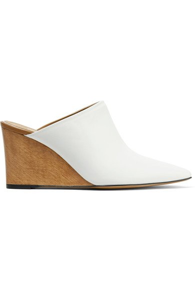 THE ROW Flora leather mules