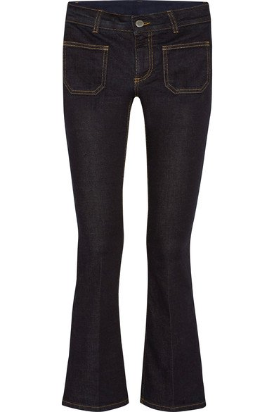 STELLA MCCARTNEY cool Cropped mid-rise flared blue jeans