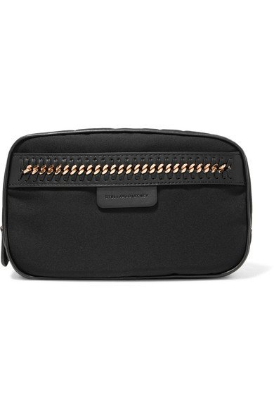 STELLA MCCARTNEY The Falabella classy chain and black faux leather-trimmed cosmetics case
