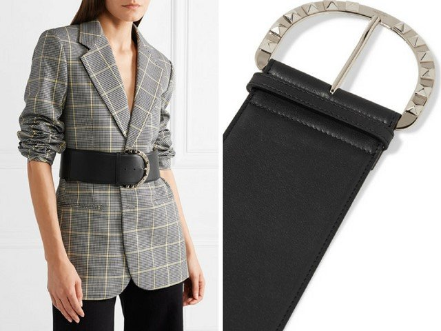 VALENTINO Valentino Garavani The Rockstud leather belt