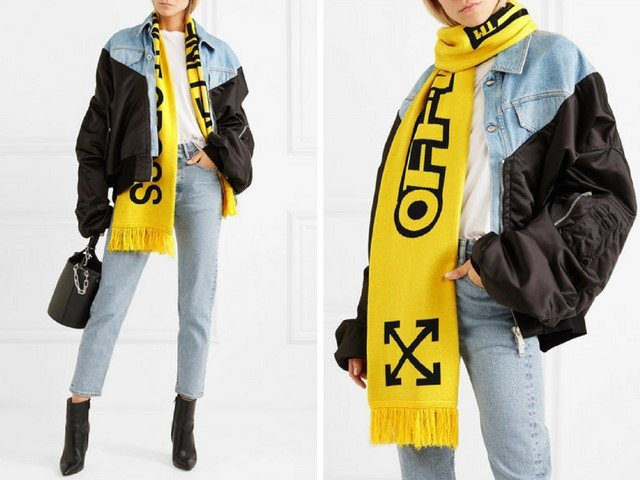 OFF-WHITE Cotton scarf