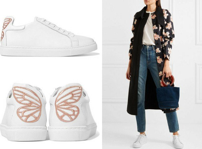 Sophia Webster Bibi embroidered leather sneakers