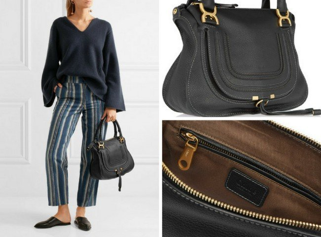 CHLOÉ The Marcie medium textured-leather tote