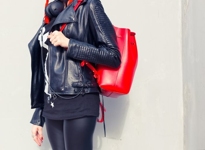 Women's Red Luxurious Backpack
