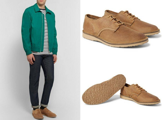 Red Wing Shoes Weekender Textured-Leather Derby Shoes