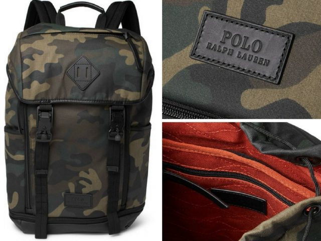 Polo Ralph LaurenCamouflage-Print Leather-Trimmed Cotton-Canvas Backpack