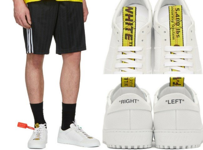 Off-White White & Yellow Belt Sneakers