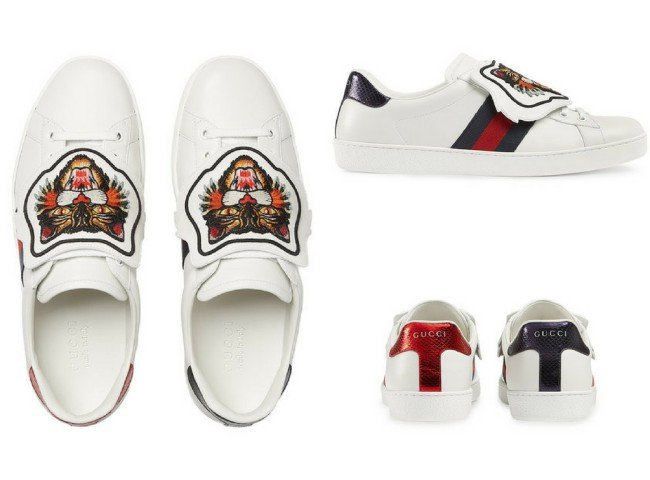 GUCCI Ace sneaker with removable embroideries