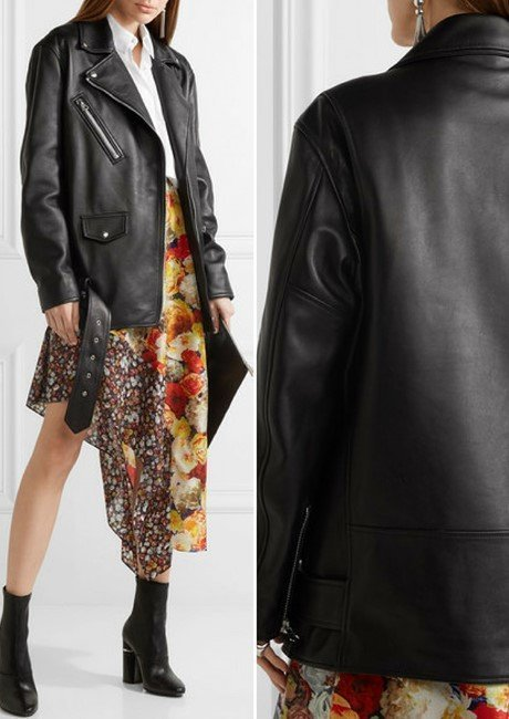 ACNE STUDIOS Myrtle leather biker jacket