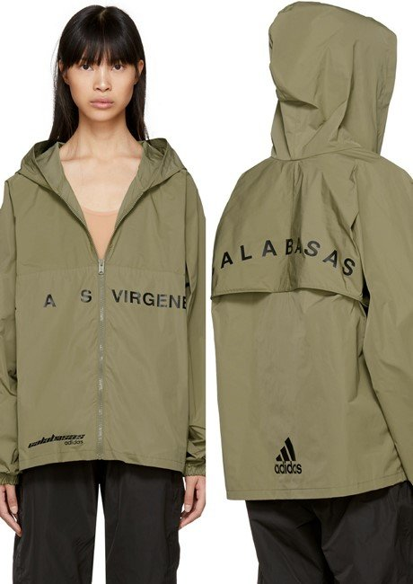 YEEZY Khaki 'Calabasas' Hooded Windbreaker Jacket