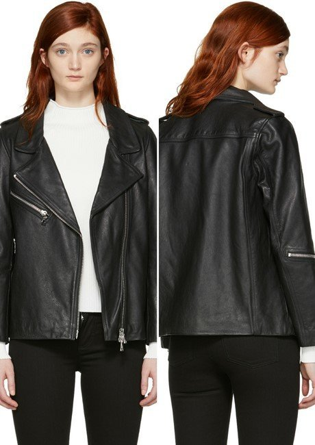 Won Hundred Black Leather Edna Moto Jacket