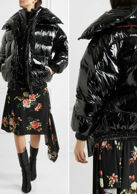 VETEMENTS ELEGANT MISS WEBCAM QUILTED VINYL JACKET